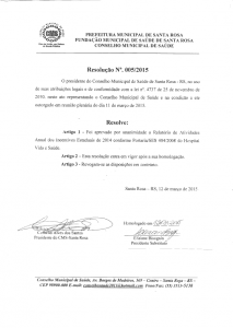 Resolução 005-2015