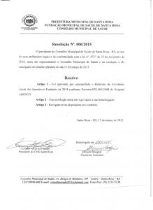Resolução 006-2015 CMS