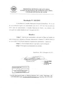 Resolução Nº. 020-2015 CMS