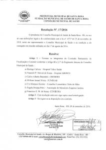 Resolução 017-2016 CMS