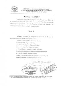 Resolução Nº. 005-2017 CMS