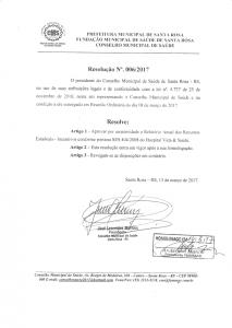Resolução Nº. 006-2017 CMS