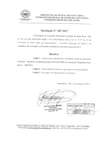 Resolução Nº. 007-2017 CMS